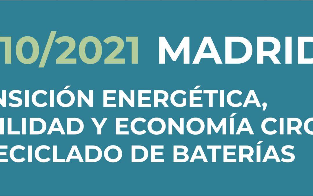 """Jornada Gratuita: """"Movilidad, economía circular y acceso a materias primas: el reciclado de baterías"""""""